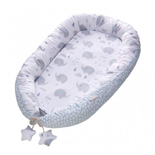 Baby Lounger and Nest Bed Bassinet, 100% Cotton Baby Portable Crib Perfect for Travel with Soft Cotton Pad