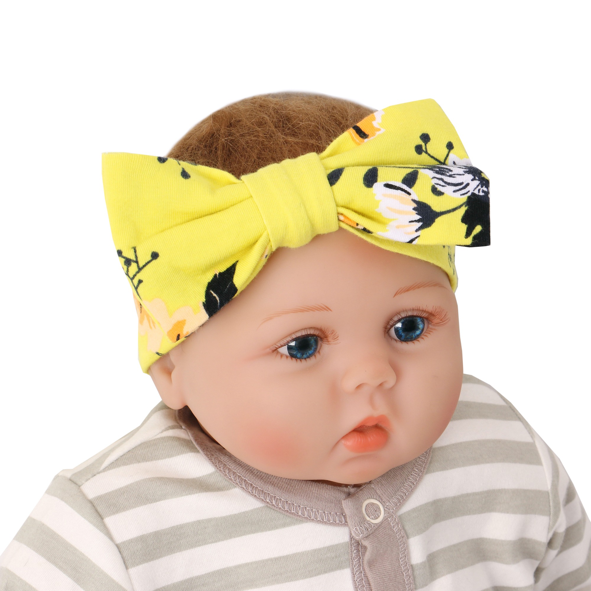Baby Headwear Floral Print Soft Baby Hat Elastic Infant Accessories